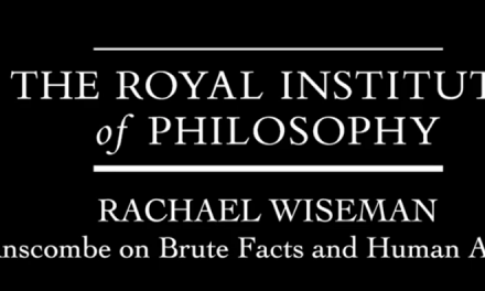 Rachael at the Royal Institute of Philosophy