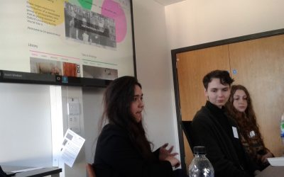 Amber, Anna, and Annie at the Iris Murdoch Society conference