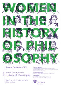 Women in the history of philosophy poster for The British Society for the History of Philosophy's annual conference